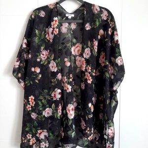 3/$35 Rose patterned Shawl / Swimsuit cover up